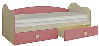 Односпальная кровать Горизонт Мебель Радуга (фламинго) -