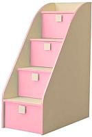 Комод Горизонт Мебель Радуга лестница (фламинго) -