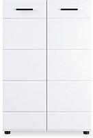 Тумба Империал Йорк 2д (белый жемчуг/белый глянец) -