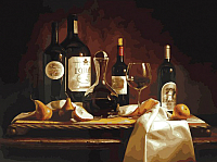 Картина по номерам БЕЛОСНЕЖКА Вино и груши / 317-AS -