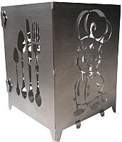 Подставка для кухонных приборов GALA AK006-NY (нержавеющая сталь) -