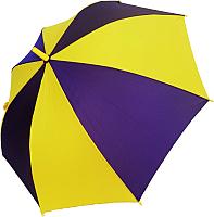 Зонт-трость Ame Yoke L 542-4 (фиолетовый/желтый) -