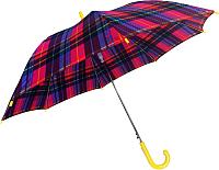 Зонт-трость Ame Yoke L 542 СН-1 (красный/клетка) -