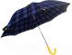Зонт-трость Ame Yoke L 542 СН-2 (синий/клетка) -