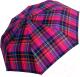 Зонт складной Ame Yoke М 551 СН-3 (розовый/фиолетовый/клетка) -