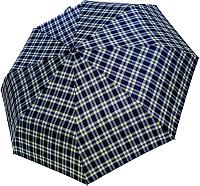Зонт складной Ame Yoke OK 551CH-4 (синий/клетка) -