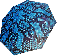 Зонт складной Ame Yoke OK 552-2 (голубой/змея) -
