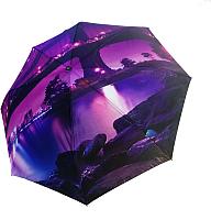 Зонт складной Ame Yoke RB 58 FS-1 (фиолетовый/мост) -