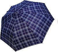 Зонт складной Ame Yoke ОК58-НВ-СН-2 (синий/клетка) -