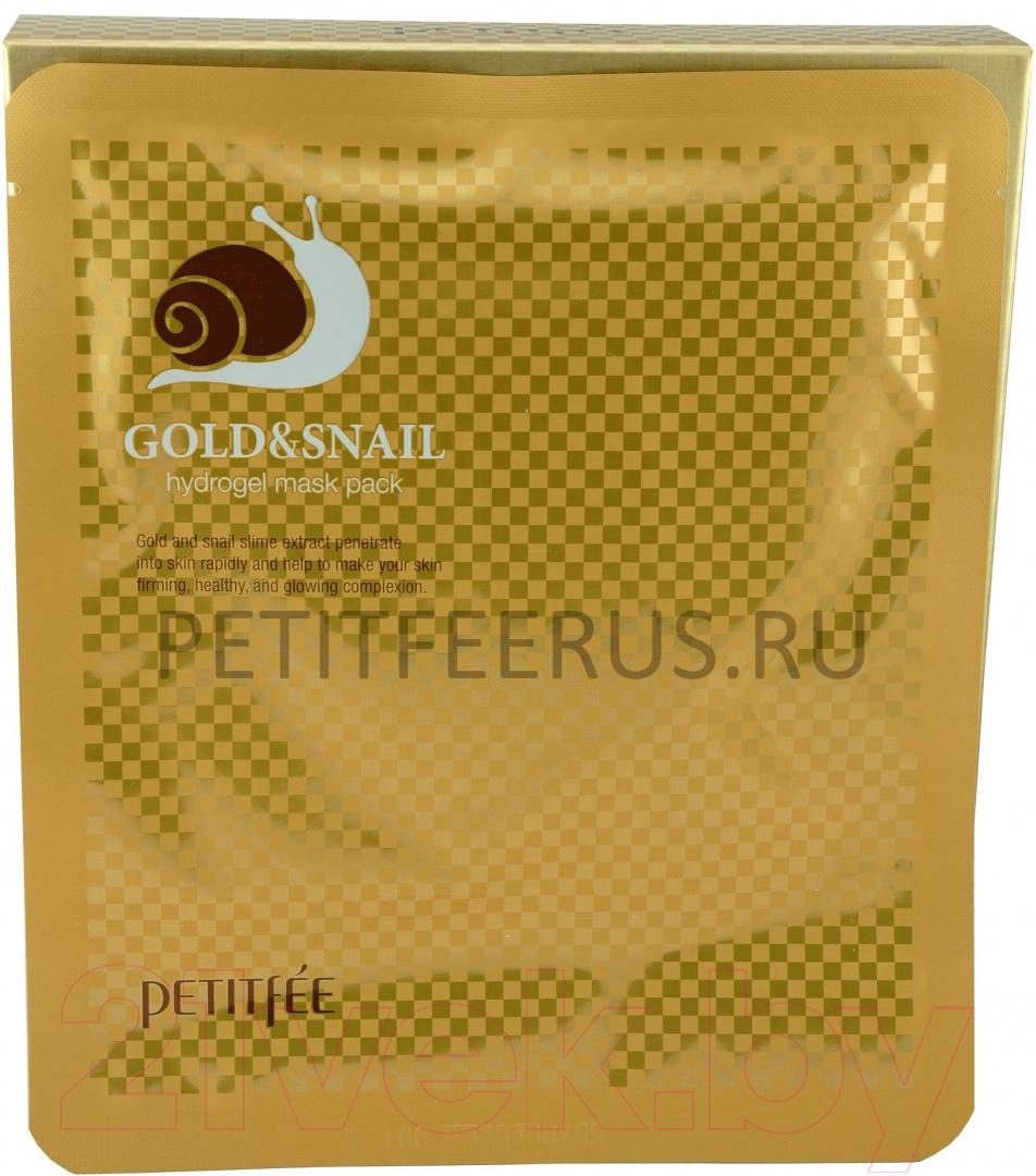 Купить Маска для лица гидрогелевая Petitfee, Gold & Snail Transparent Gel Mask Pack, Южная корея