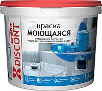Краска Ореол Дисконт интерьерная моющаяся (1.5кг, белый матовый) -