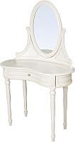 Туалетный столик с зеркалом ГрандМодерн Без деколи (ваниль с патиной) -