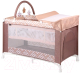Кровать-манеж Lorelli Verona 2 Plus Brown Beige Lines (10080271940) -