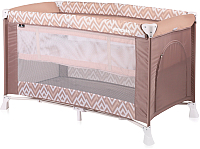 Кровать-манеж Lorelli Verona 2 Brown Beige Lines (10080261940) -