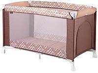 Кровать-манеж Lorelli Verona 1 Brown Beige Lines (10080251940) -
