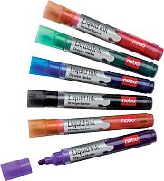 Набор маркеров NOBO Liquid Ink 1901419 (6шт, ассорти) -