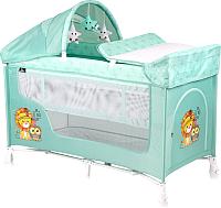 Кровать-манеж Lorelli San Remo 2 Plus Green Indians (10080081920) -
