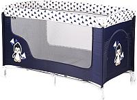 Кровать-манеж Lorelli San Remo 1 Blue White Penguin (10080011936) -