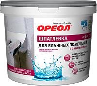 Шпатлевка Ореол Для влажных помещений с антисептиком (1.5кг) -