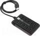 USB-хаб 5bites HB210-205PBK (черный) -