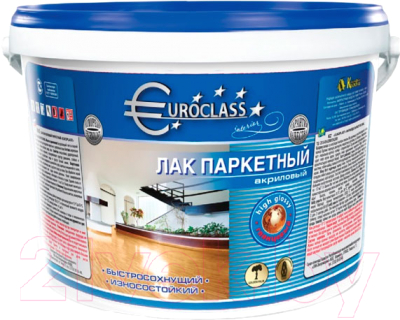 Лак Euroclass Акриловый паркетный (1л, глянцевый)