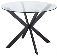 Обеденный стол Седия Dallas  (стекло/метал) -