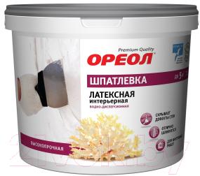 Шпатлевка Ореол, Интерьерная латексная (1.5кг), Россия  - купить со скидкой