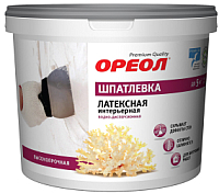 Шпатлевка Ореол Интерьерная латексная (4кг) -