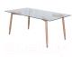 Журнальный столик Седия Norman  (стекло/металл) -