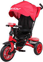 Детский велосипед с ручкой Lorelli Speedy Air / 0050430003 (красный/черный) -