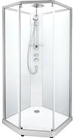 Душевая кабина IDO Comfort 10-5 90x90 (алюминий, прозрачное стекло) -