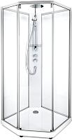 Душевая кабина IDO Comfort 10-5 100x100 (алюминий, прозрачное стекло) -