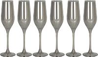 Набор бокалов для шампанского Luminarc Celeste Сияющий графит P1564 -