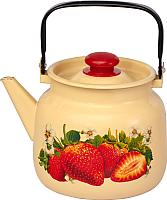 Чайник Лысьвенские эмали Сочная клубника С-2713 П2/4Км -