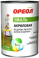 Эмаль Ореол Акриловая матовая (900г, зеленый) -