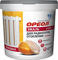 Эмаль Ореол Акриловая для радиаторов отопления (1.1кг, белый глянцевый) -