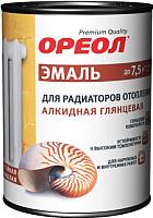 Эмаль Ореол Алкидная для радиаторов отопления (1кг, белый глянцевый) -