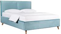 Двуспальная кровать ДеньНочь Амелия К03 KR00-25Le 160x200 (KN26/KN26) -