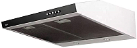 Вытяжка плоская Akpo Glass WK-7 P-3050 (белый/черное стекло) -