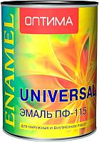 Эмаль Оптима ПФ-115 (900г, зеленый) -