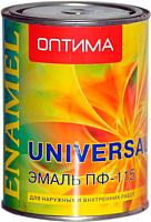 Эмаль Оптима ПФ-115 (900г, ярко-зеленый) -