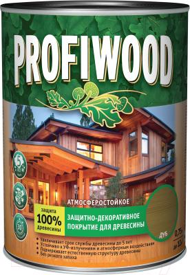 Защитно-декоративный состав Profiwood Для древесины (750мл, тик)