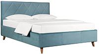 Двуспальная кровать ДеньНочь Мишель К04 KR00-19L 160x200 (KN26/KN26) -