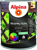 Защитно-декоративный состав Alpina Лазурь-гель (2.5л, белый) -