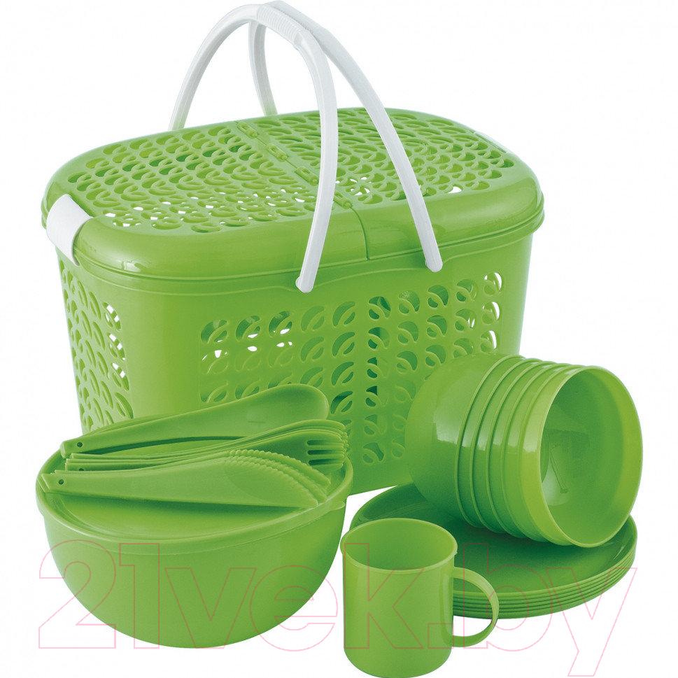 Купить Набор пластиковой посуды Palisad, Camping 69517, Китай