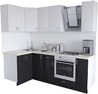 Готовая кухня Хоум Лайн Кристалл Люкс 1.2x2.3 (черный/белый) -