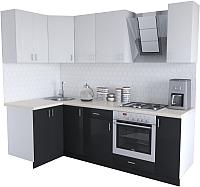 Готовая кухня Хоум Лайн Кристалл Люкс 1.2x2.4 (черный/белый) -