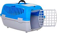 Переноска для животных Trixie Traveller Capri II 39822 (светло-серый/синий) -