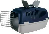 Переноска для животных Trixie Traveller Capri III 39832 (светло-серый/темно-синий) -