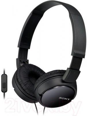 Наушники-гарнитура Sony MDR-ZX110APB - общий вид